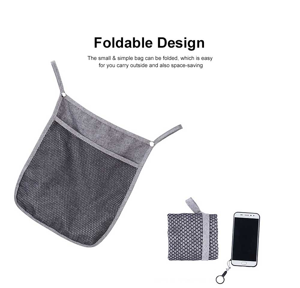 Baby Stroller Hanging Bag for Shopping, Outdoors, Multifunctional Mesh Bag with Handle Small Portable Storage Holder 2