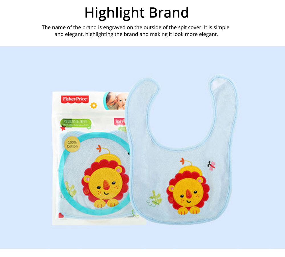 Saliva Cover Cotton TPU Material, Waterproof Spit Bib for Baby Avoid Dirt with Cute Pattern Design Breathable Baby Bib 4