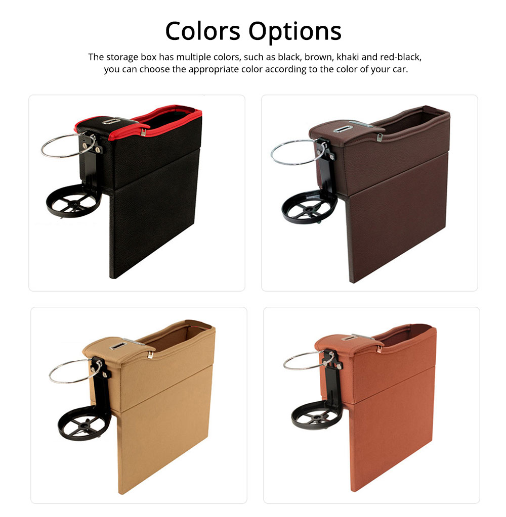 Storage Bag Leather Material Slot Installation Pack Box for Car Both Driver Copilot Store Bottle Phone Multiple Functions Container 4