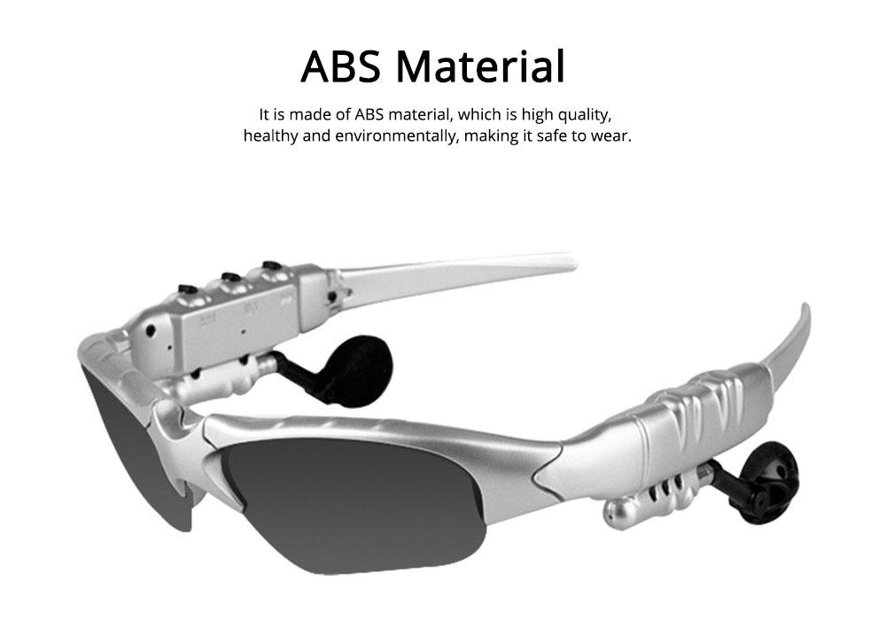 Bluetooth 4.1 Glasses Sport Headset, Multifunction Free Calls Music Play Bluetooth Smart Headset Glasses, ABS Material Anti-ultraviolet Ocular Anti-vertigo Polarizing Lens Adjustable Eyeglass 1