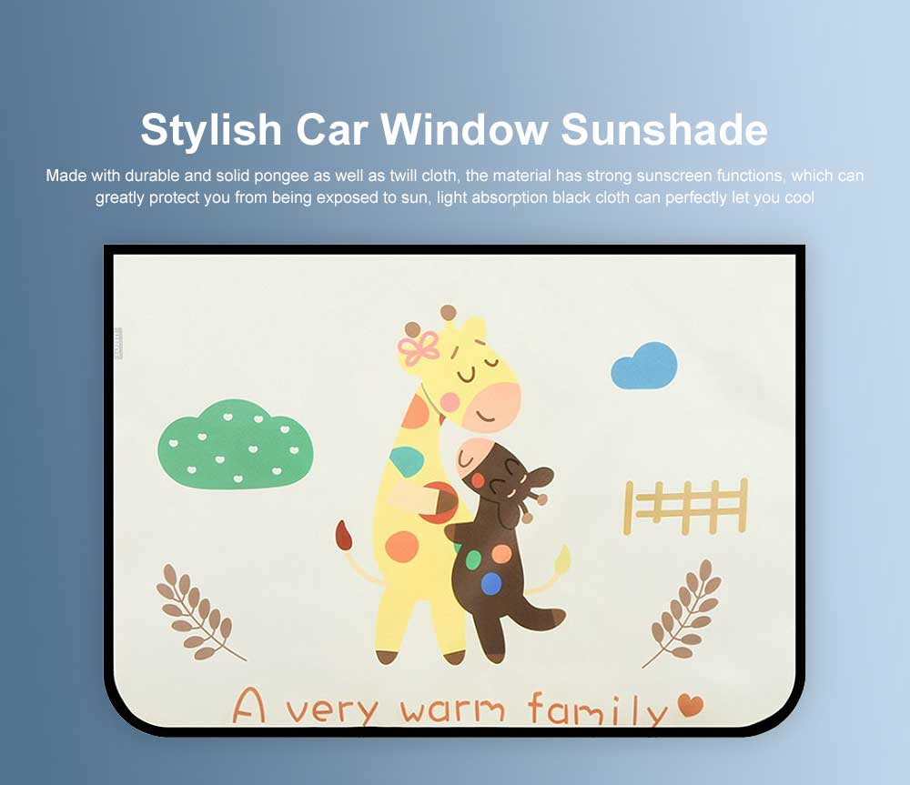 Stylish Car Window Sunshade Sunscreen with Different Patterns and Colors Compatible with All Cars Car Window Sunshade 0