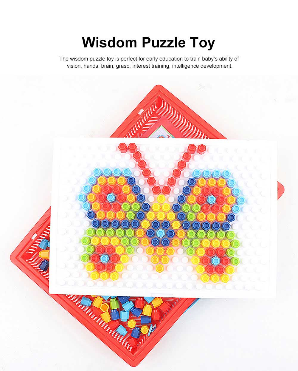 Children Puzzle Toy, Flat Puzzle Toy for Kids, Early Education Essential Toy Wisdom Puzzle Toy 2