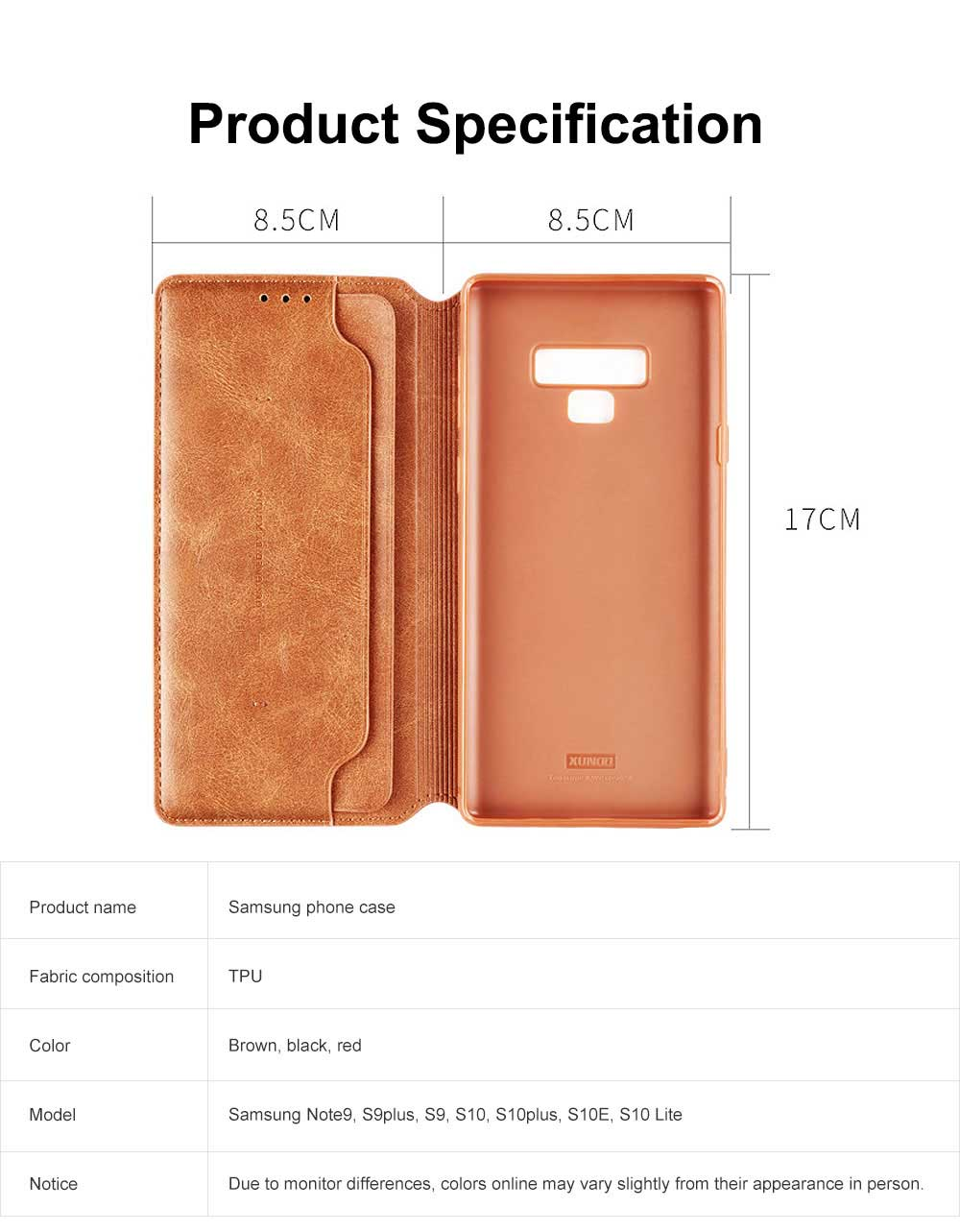 Soft TPU PU Leather Shockproof Protective Samsung Phone Case, Flip Case with Card Slot Samsung Soft Phone Cover for Samsung Galaxy Note 9, S9 plus, S9, S10, S10 plus, S10E, S10 Lite 5