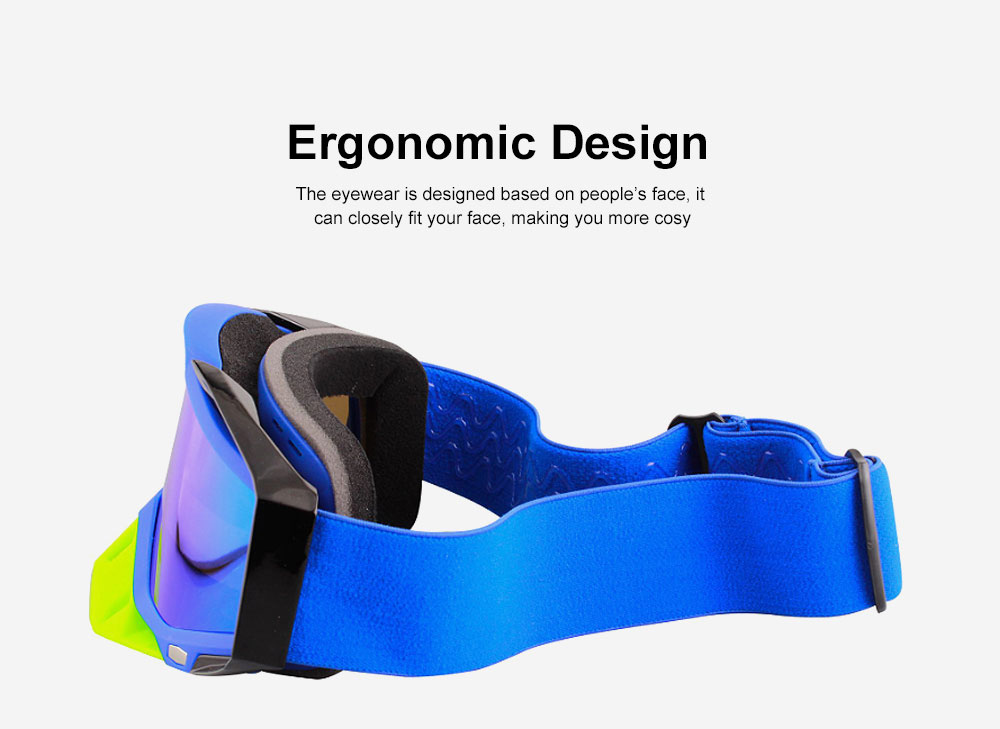 Ski Goggles Motorcycle Harley Goggle Over Glasses with Anti-Fog sand-proof mask Sport equipment Glasses Dual Interchangable Lens for Men Women 1