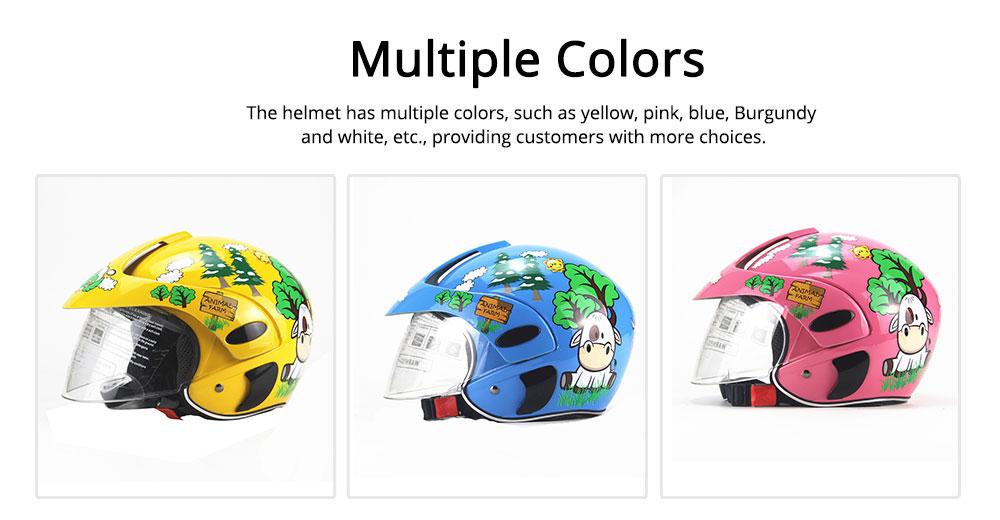 Children Half-head Helmet Cloth New Material Hat High-grade Buffer Helm Cute Cartoon Pattern Headgear Safe for Girl Boy Riding Anti-fall Cap 5
