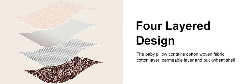 Delicate Baby Pillow with Cute Animal Pattern, Flat Head Prevention Baby Pillow, Four Layered Design 16 cm Adjustment Removable Baby Pillow 5