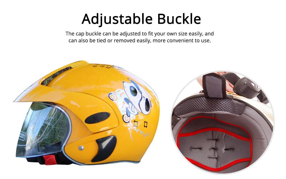 Children Half-head Helmet Cloth New Material Hat High-grade Buffer Helm Cute Cartoon Pattern Headgear Safe for Girl Boy Riding Anti-fall Cap 4