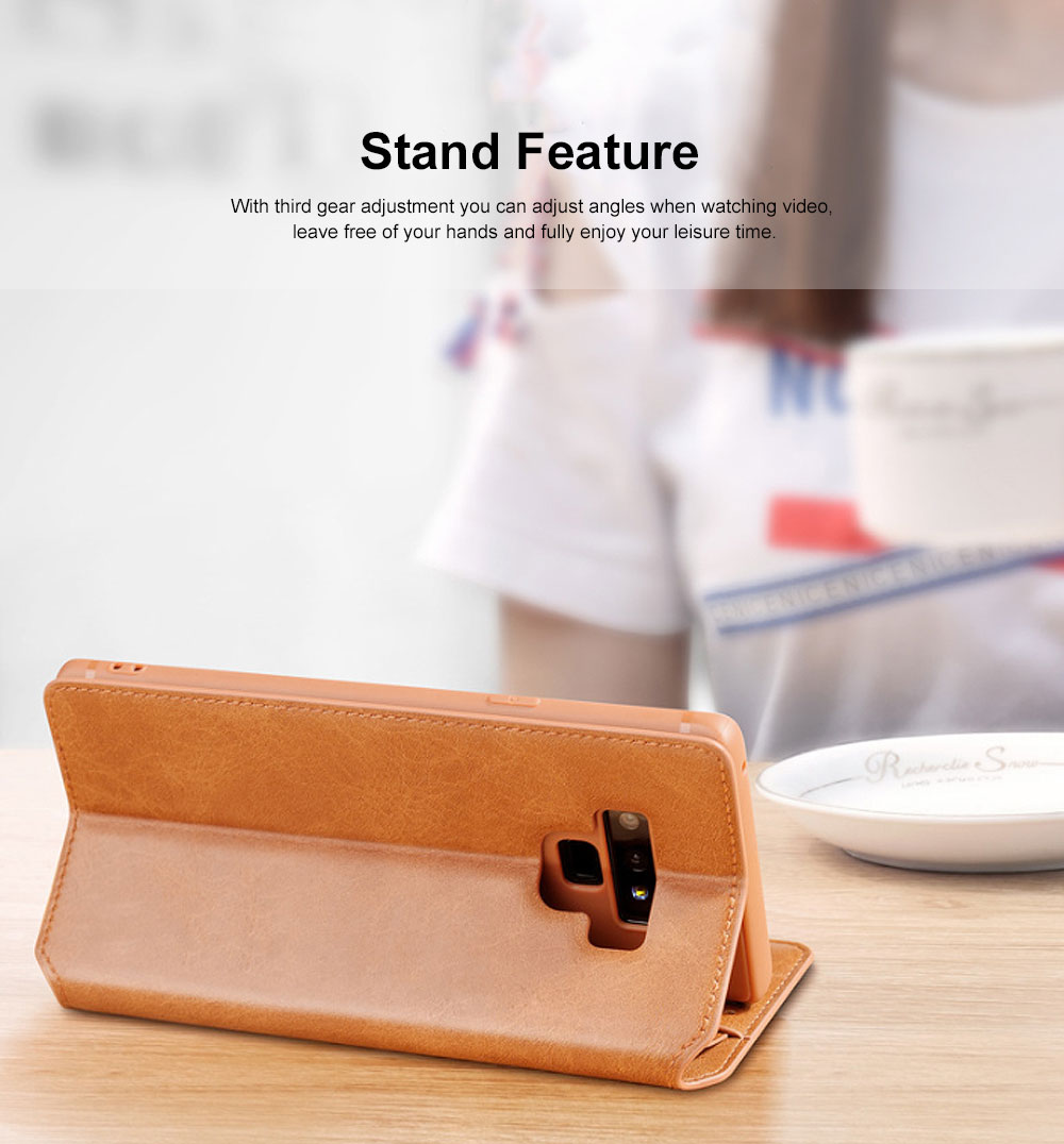 Soft TPU PU Leather Shockproof Protective Samsung Phone Case, Flip Case with Card Slot Samsung Soft Phone Cover for Samsung Galaxy Note 9, S9 plus, S9, S10, S10 plus, S10E, S10 Lite 1