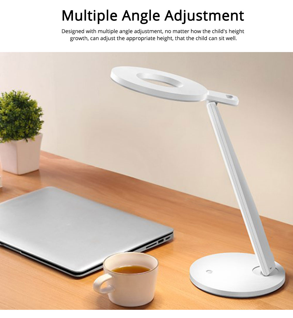 Led Desk Lamp ABS Material Adjustable Brightness Colors Large Light Area Touching Switch Light USB Rechargeable Folding Lamp 9