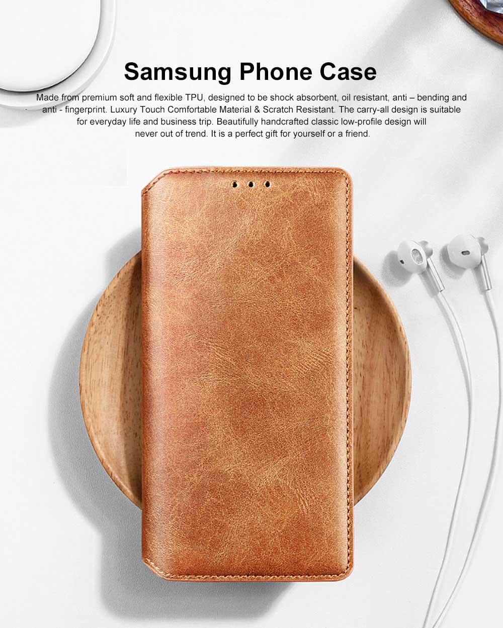 Soft TPU PU Leather Shockproof Protective Samsung Phone Case, Flip Case with Card Slot Samsung Soft Phone Cover for Samsung Galaxy Note 9, S9 plus, S9, S10, S10 plus, S10E, S10 Lite 0