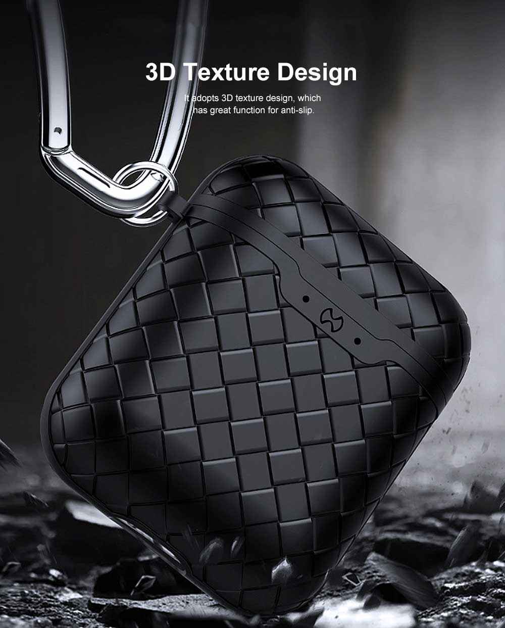 Ultra-thin Protective Case for AirPods AirPods 2, Anti-loss Bluetooth Headset Woven Case Storage Bag TPU for Men & Women 2