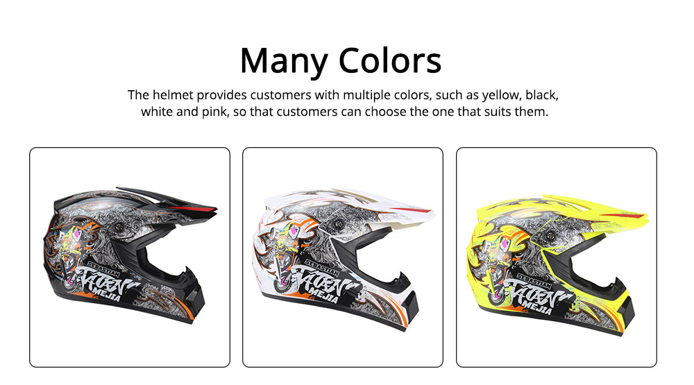 Motor Helmet Mountain Bike Safe Headgear ABS Material Anti-fall Pirate Skull Pattern Headgear for Men Women Riding Cap Anti-pressure Light Helmet 3