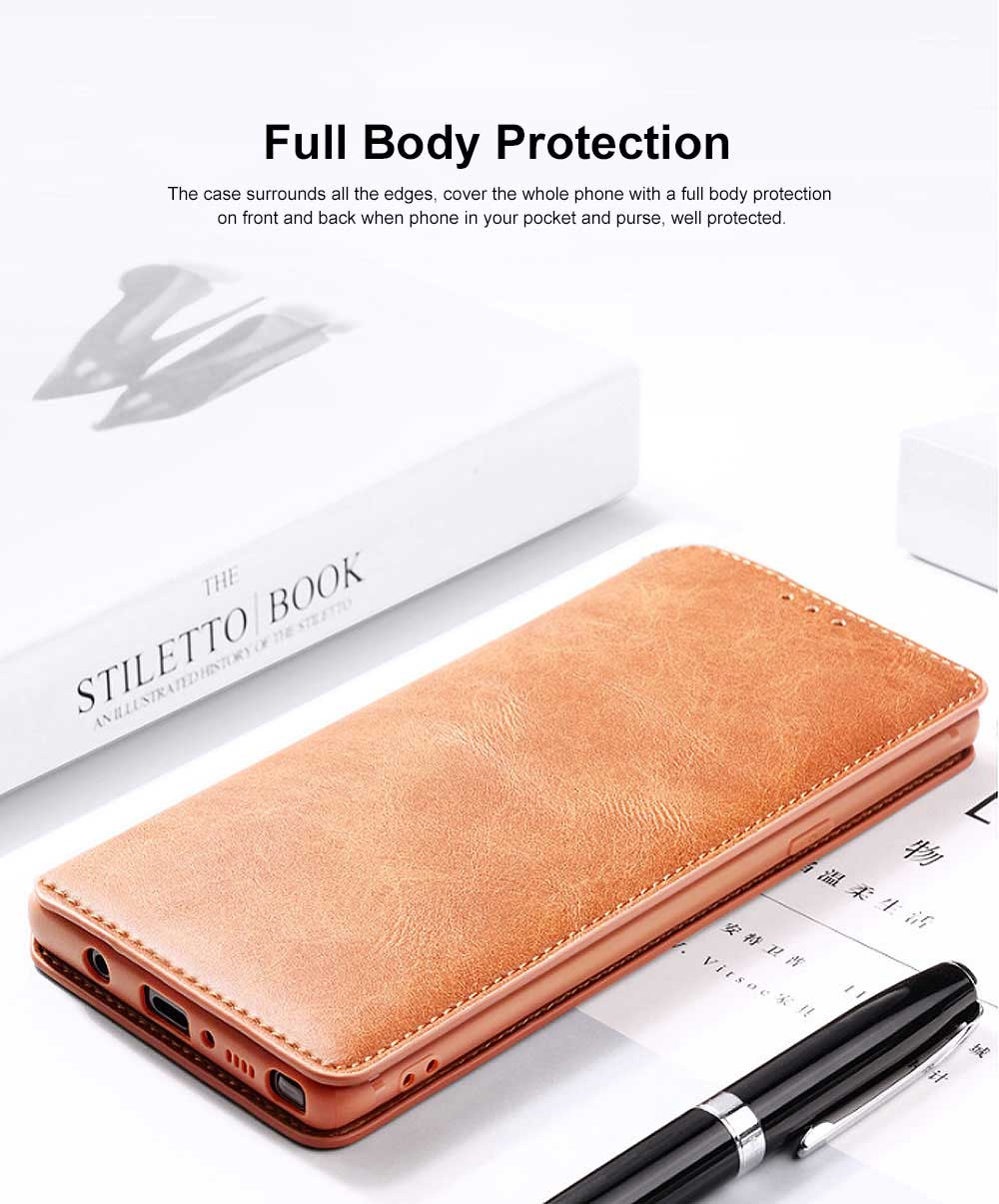 Soft TPU PU Leather Shockproof Protective Samsung Phone Case, Flip Case with Card Slot Samsung Soft Phone Cover for Samsung Galaxy Note 9, S9 plus, S9, S10, S10 plus, S10E, S10 Lite 2