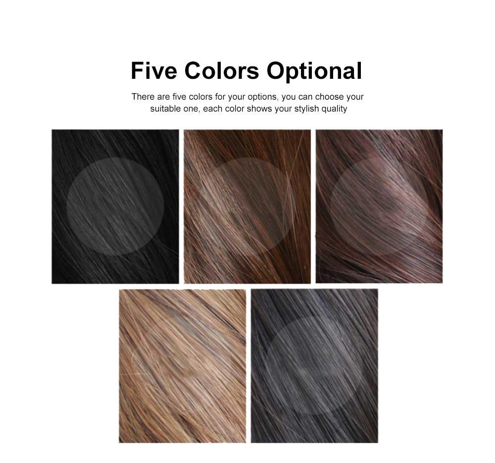 Bandage Type Korean Style Toupee Rinka, Ponytail Curved Hair for Lady, Elegant High Temperature Resistant Stylish Wig 1