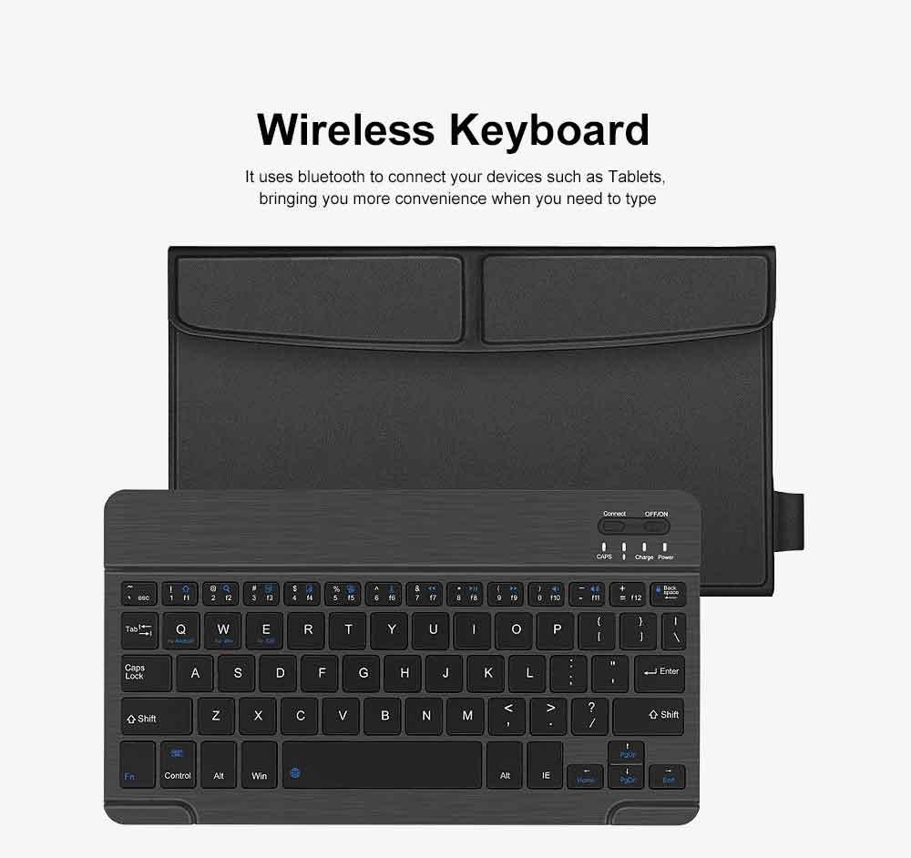 Ultra-Slim Bluetooth Keyboard Durable Plastic with Comfortable Keycap for iPad Air, iPad Mini, iPhone 3