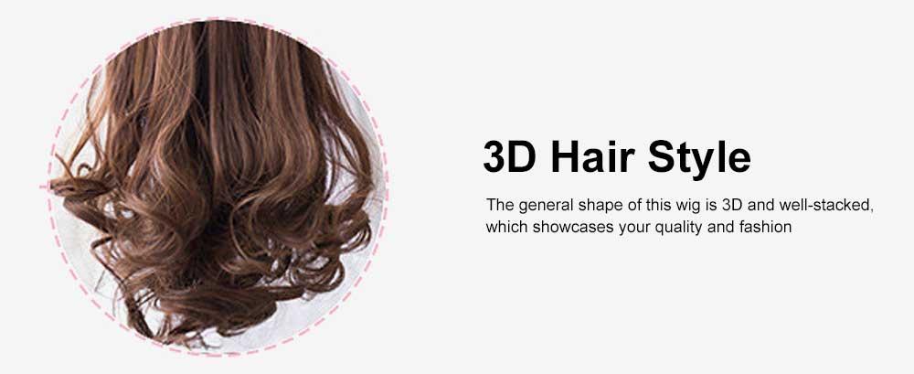 Bandage Type Korean Style Toupee Rinka, Ponytail Curved Hair for Lady, Elegant High Temperature Resistant Stylish Wig 4