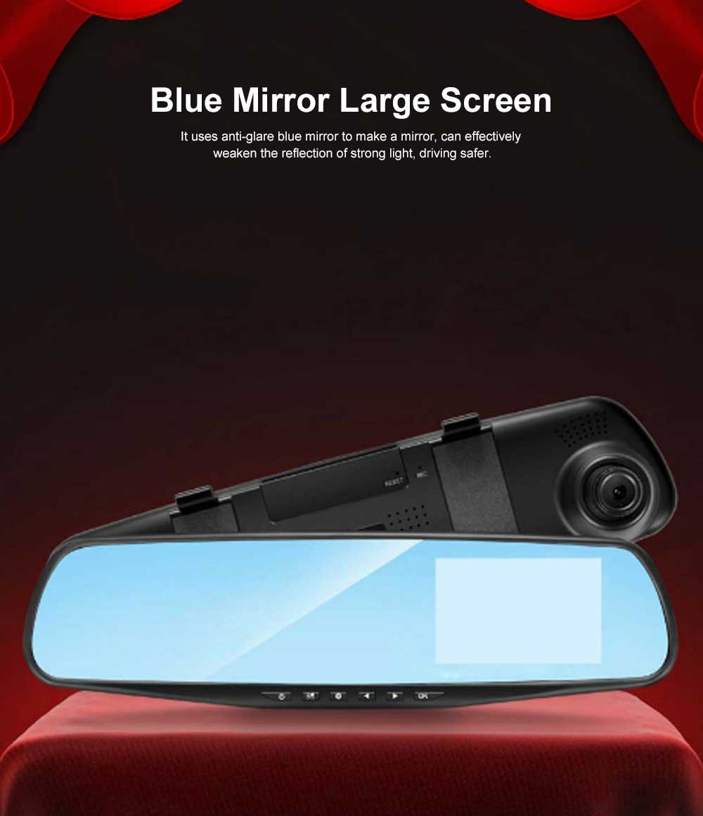 LED Automobile On-board Vehicle Data Recorder 3.9 Inch, Recorder Car Dash Cam with Gravity Sensor 32GB TF Card Included 1