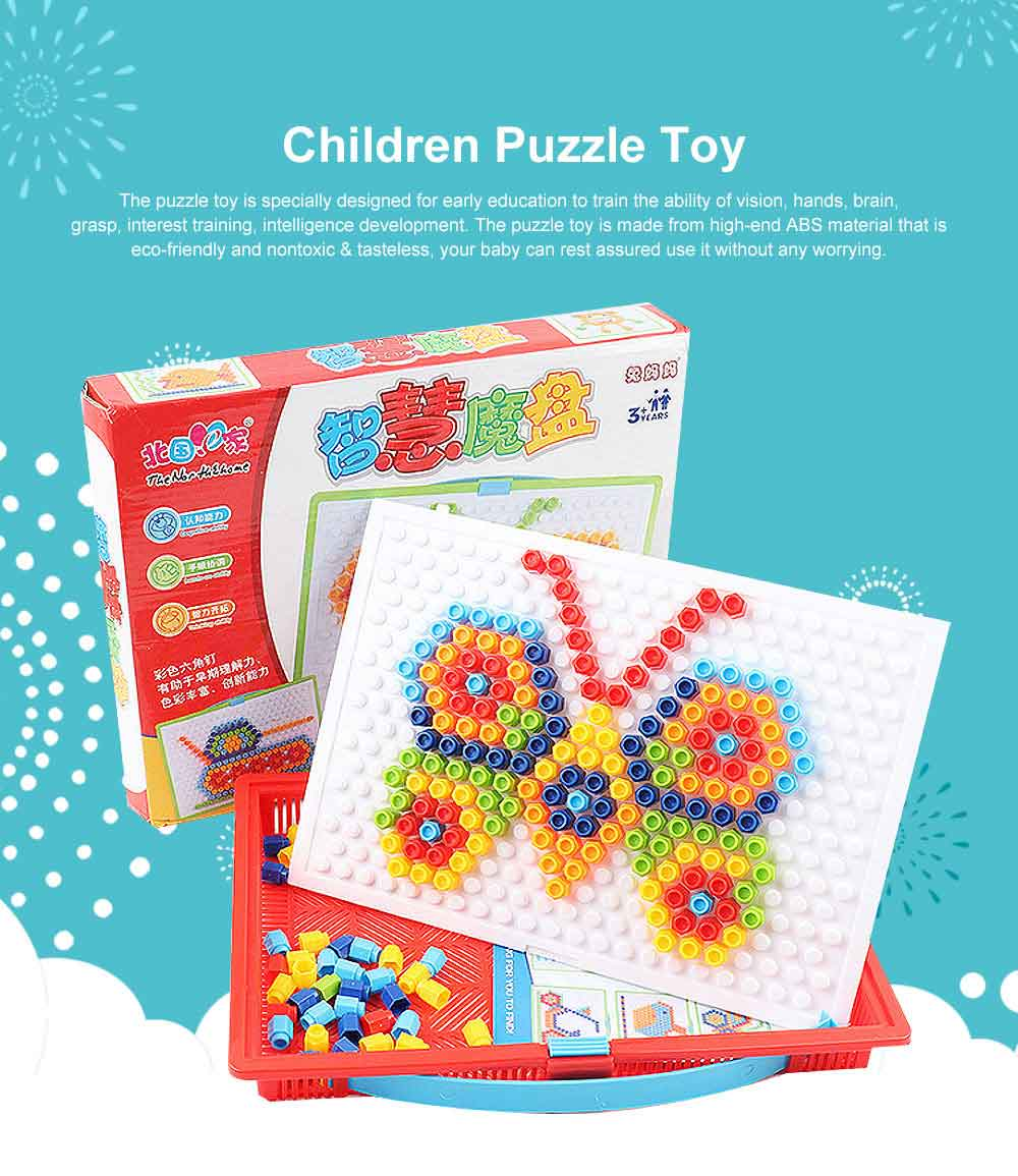 Children Puzzle Toy, Flat Puzzle Toy for Kids, Early Education Essential Toy Wisdom Puzzle Toy 0