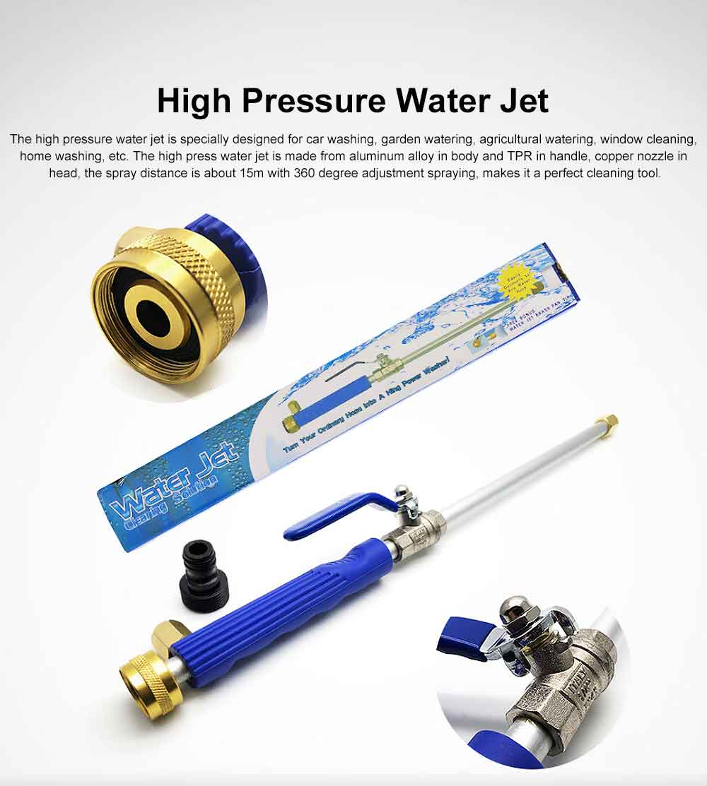 High Pressure Water Jet for Car Washing, Home Washing Garden Watering Window Cleaning, Durable Car Water Gun Pneumatic Tool Essential Tools 0