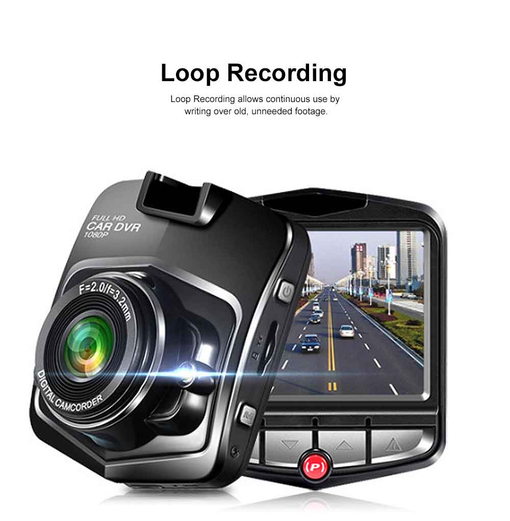 Automobile On-board Vehicle Data Recorder 2.4 Inch, 1080P Wide Angle Dashboard Camera, 32GB TF Card Support Vehicle Data Recorder 1