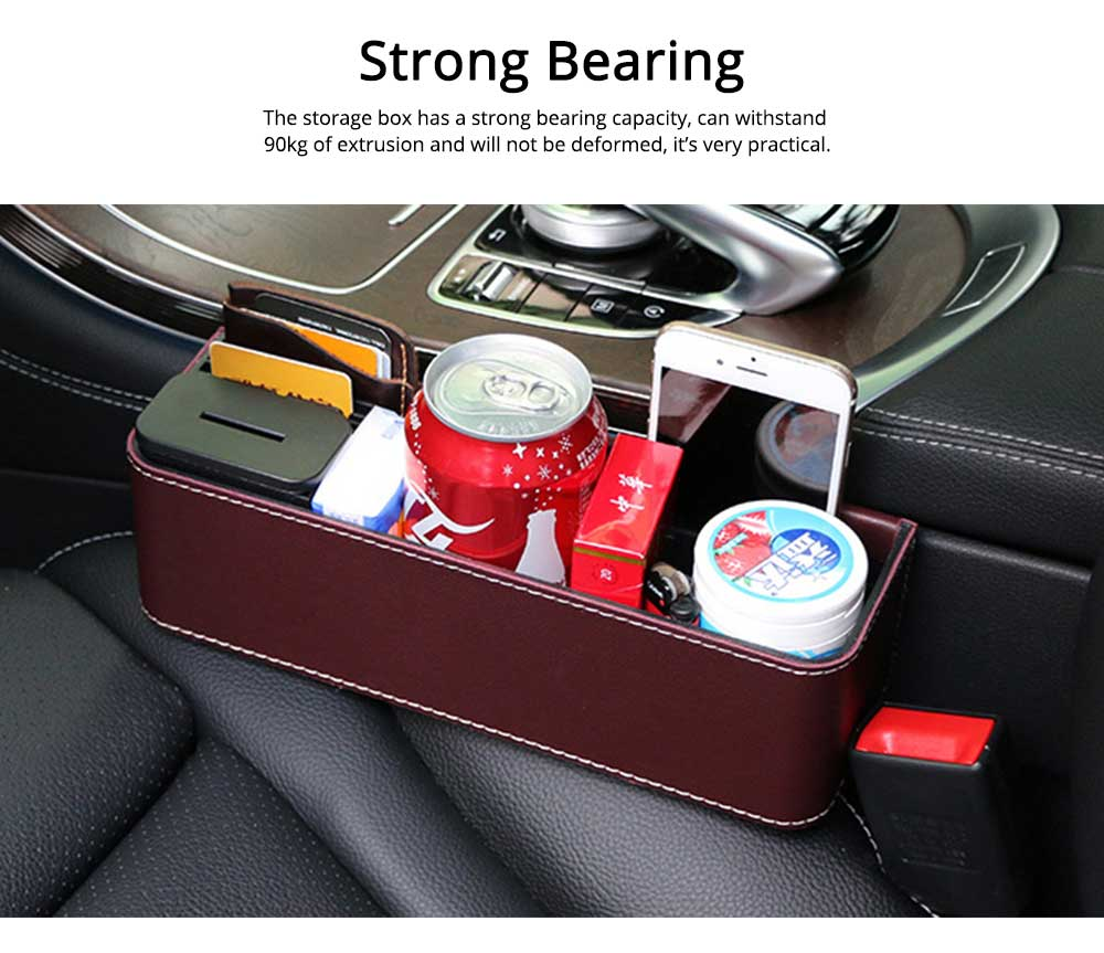 Storage Box ABS PU Material Large Capacity Pack Box for Keys Glass Phone High Bearing Practical Container for Car 4