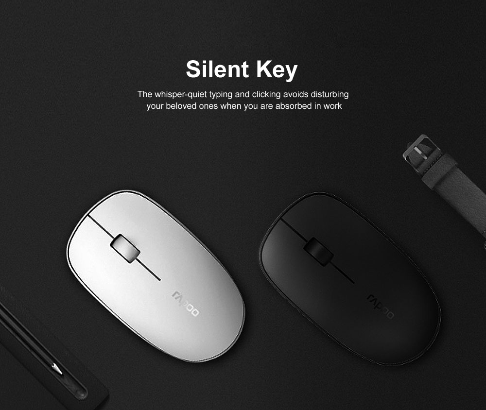 2.4G Wireless Bluetooth Keyboard and Mouse Combination Free Stable Connection with Long Battery Life 5