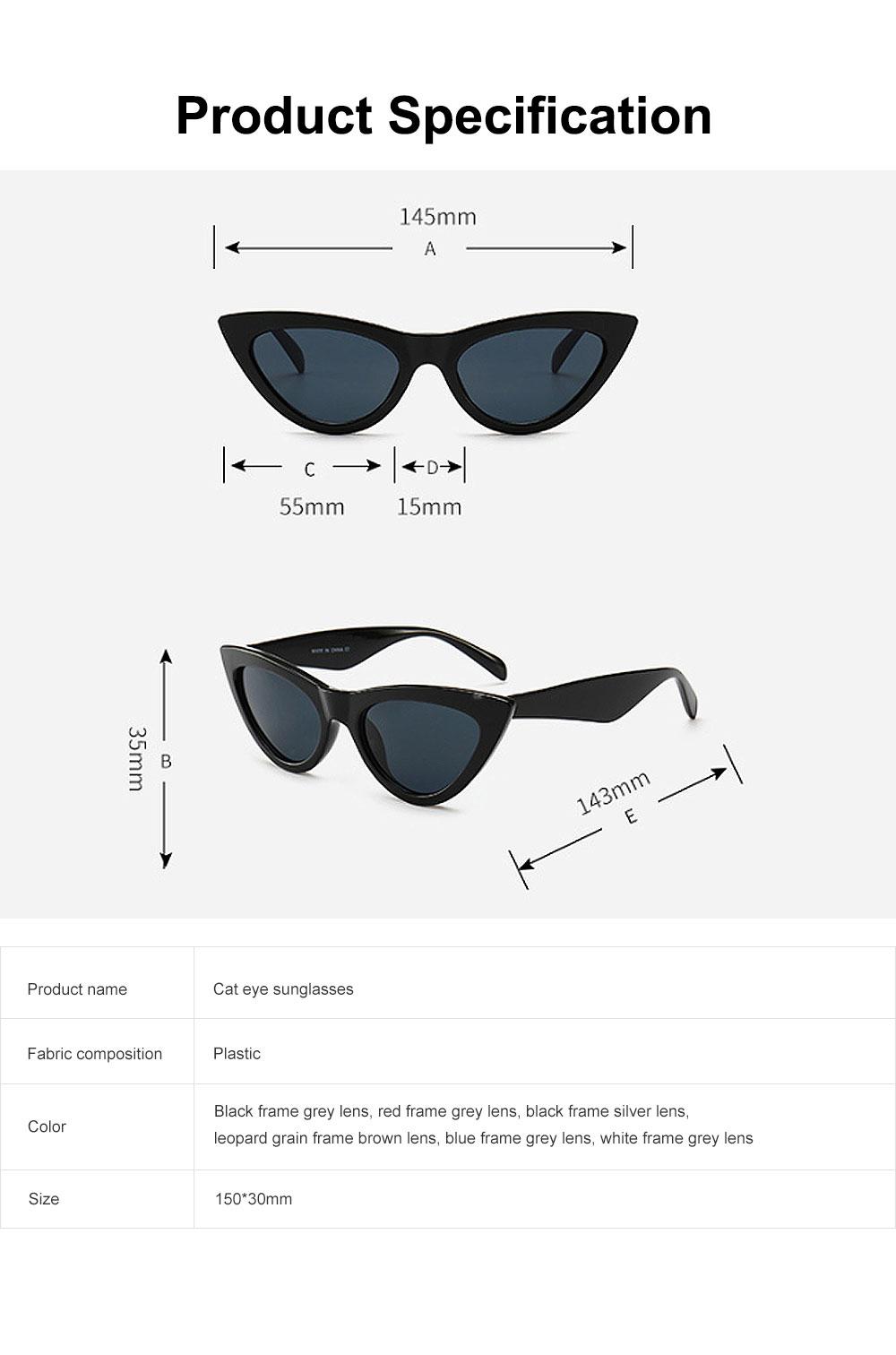 Plastic Frame Cat Sunglasses for Women, Narrow Frame Sun Glasses UV400 Protection Light Weight Lady Sunglasses 2019 5
