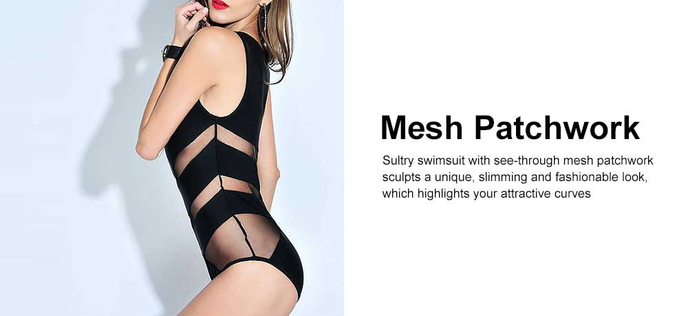 Sexy One Piece Swimsuits for Women, High Waisted Mesh Ruched Cutout Slim fit Swimwear  Beach, Ocean, and Pool 4