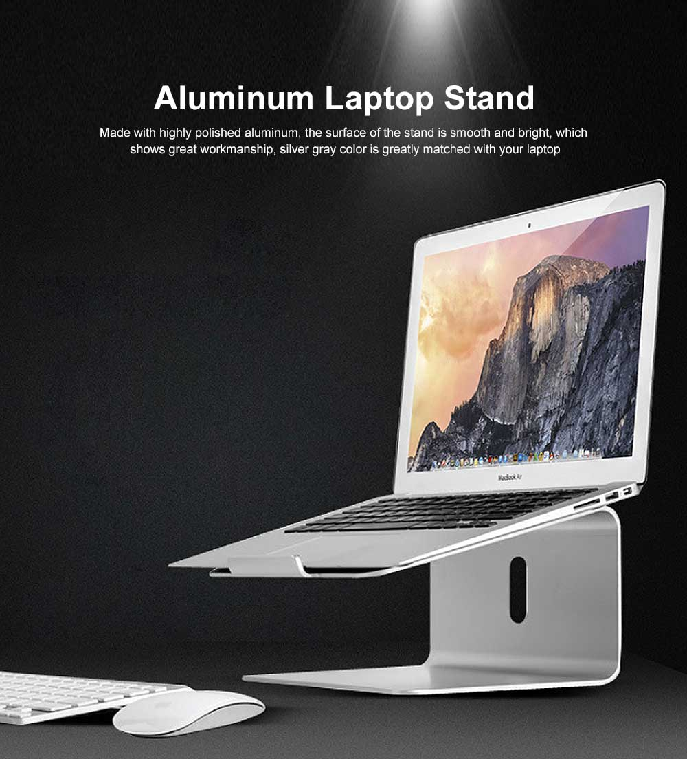 Aluminum Desk Laptop Stand Portable Holder Ergonomic Elevator Metal Riser for 11 to 17 inch PC Laptop Computer 0