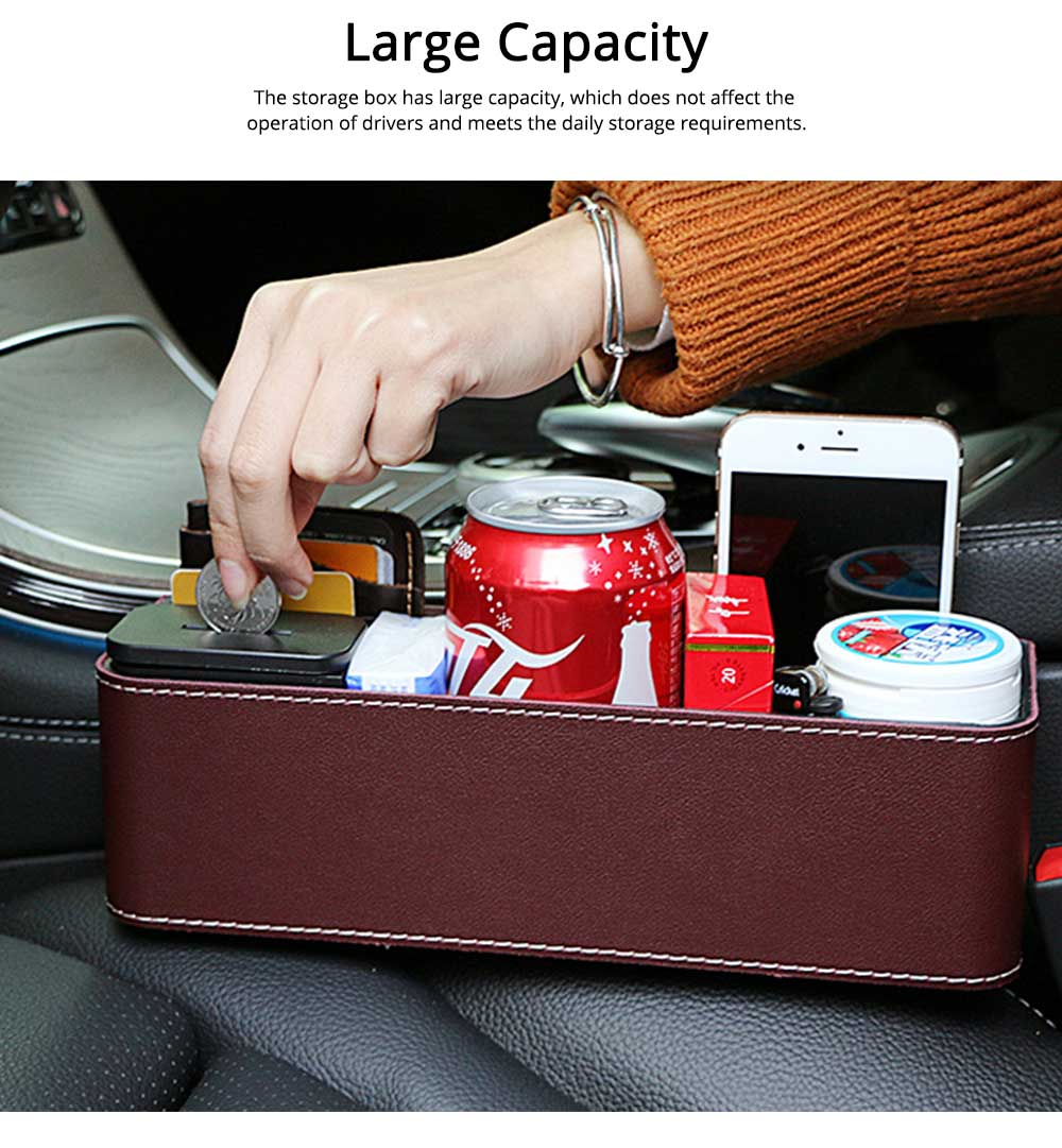 Storage Box ABS PU Material Large Capacity Pack Box for Keys Glass Phone High Bearing Practical Container for Car 2