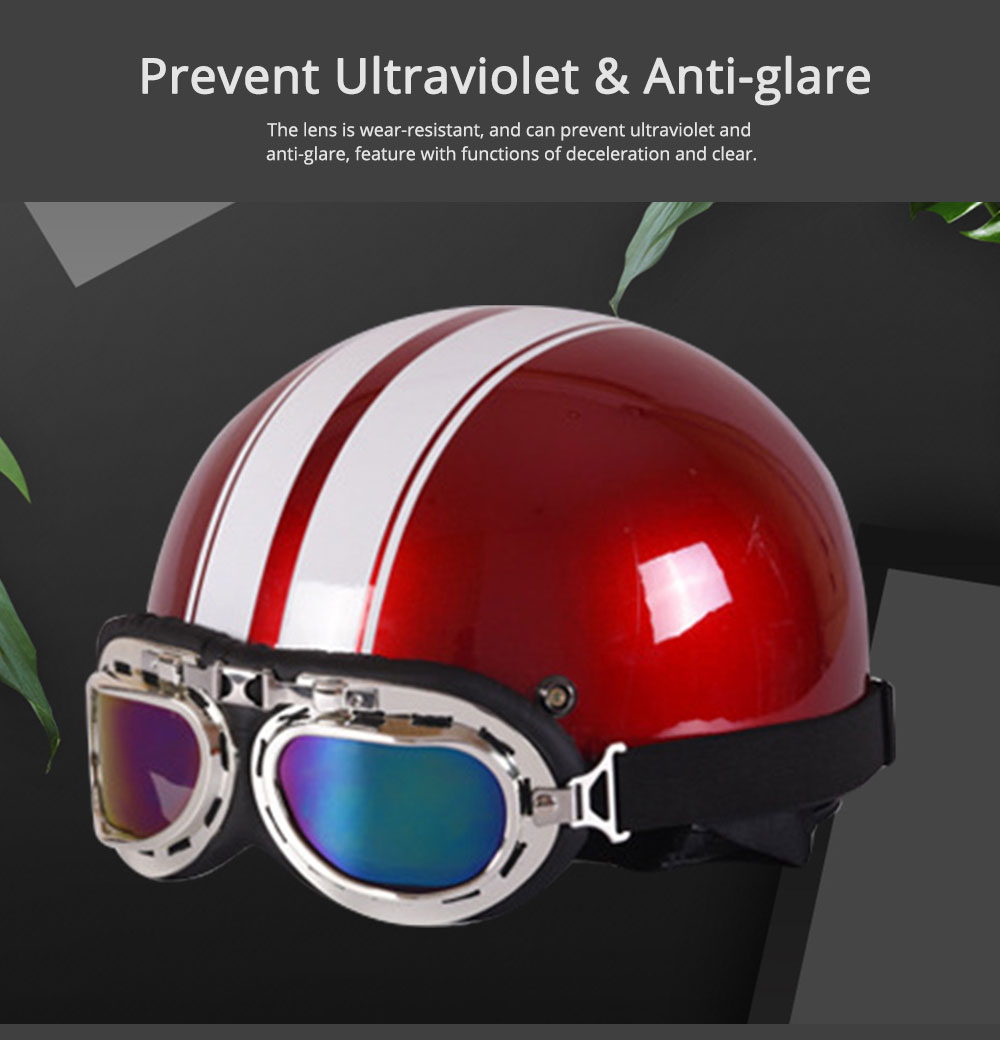 High-strength ABS Motor Helmet Strong Headgear Safe for Riding for Men Women Anti-ultraviolet Anti-glare with Cap-brim Neck Headpiece Safe Cap 5