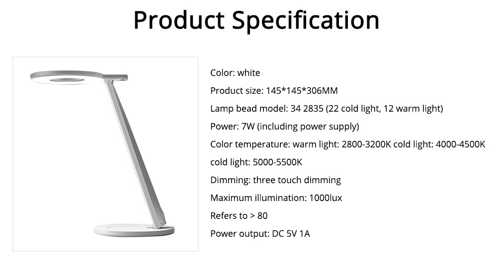 Led Desk Lamp ABS Material Adjustable Brightness Colors Large Light Area Touching Switch Light USB Rechargeable Folding Lamp 10