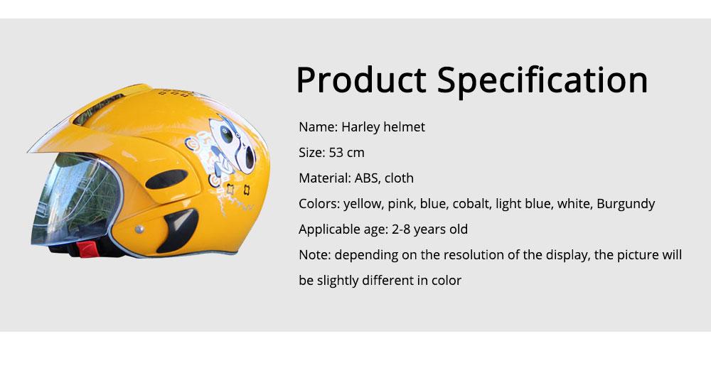Children Half-head Helmet Cloth New Material Hat High-grade Buffer Helm Cute Cartoon Pattern Headgear Safe for Girl Boy Riding Anti-fall Cap 6