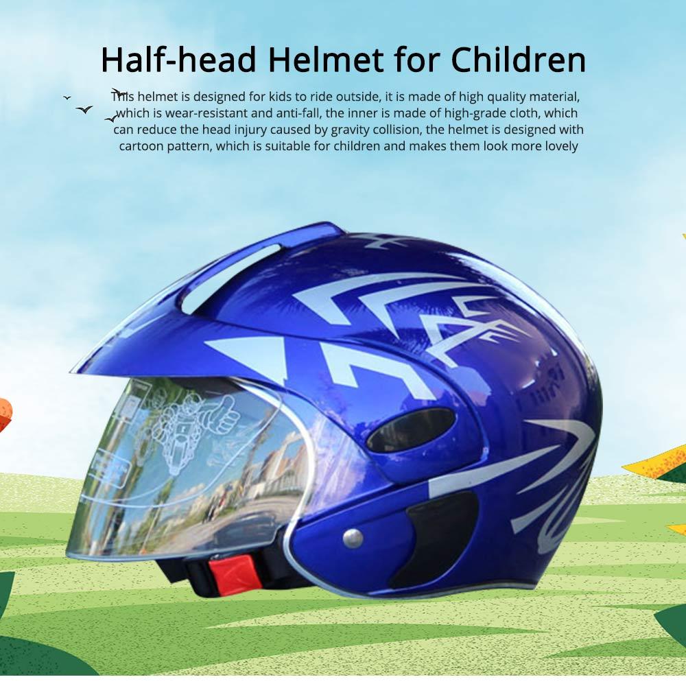 Children Half-head Helmet Cloth New Material Hat High-grade Buffer Helm Cute Cartoon Pattern Headgear Safe for Girl Boy Riding Anti-fall Cap 0