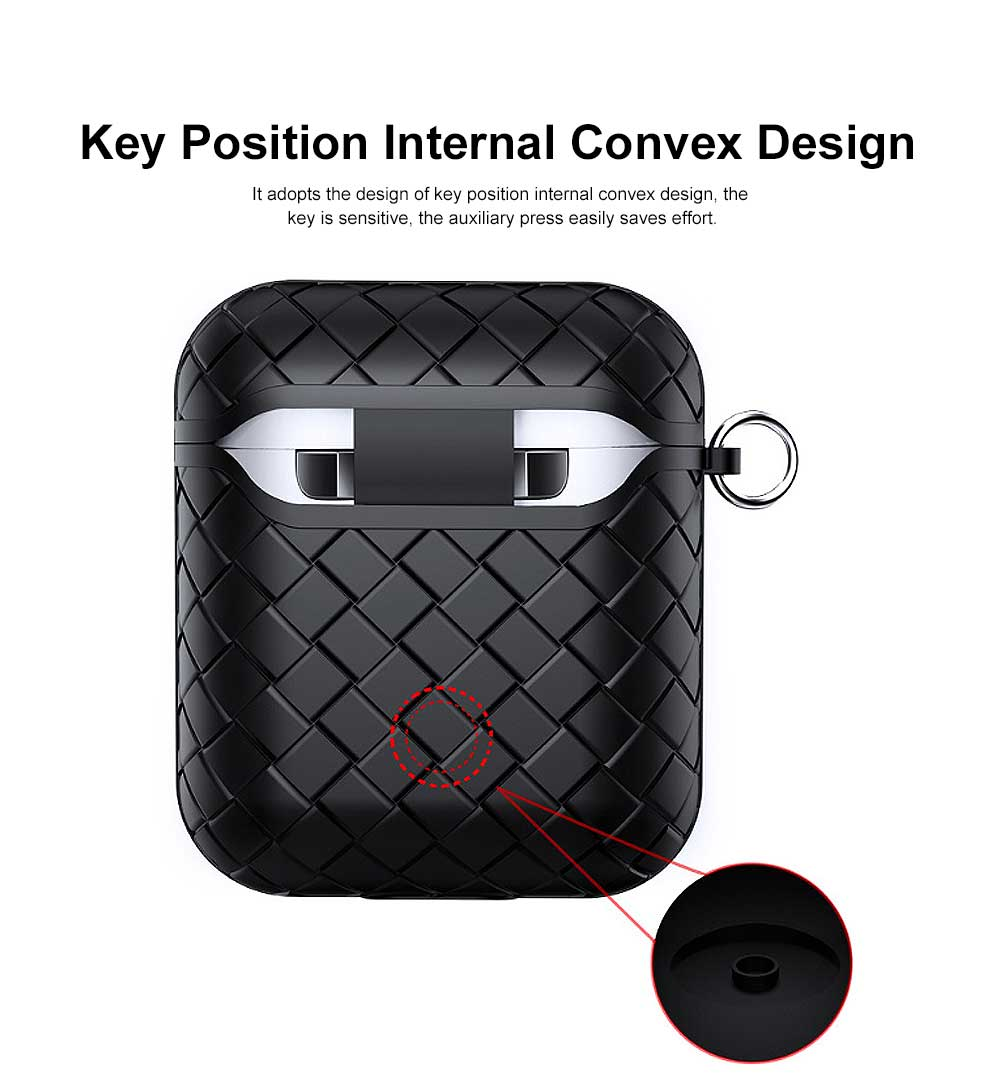 Ultra-thin Protective Case for AirPods AirPods 2, Anti-loss Bluetooth Headset Woven Case Storage Bag TPU for Men & Women 1