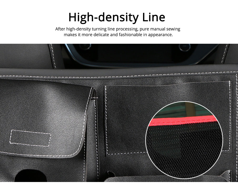 Carriage Bag for Mammy, Baby, PU Material Big Capacity with Pockets Velcro Stability Cross-border Storage Net Bag for Store Daily Items Car Collection Bag 3