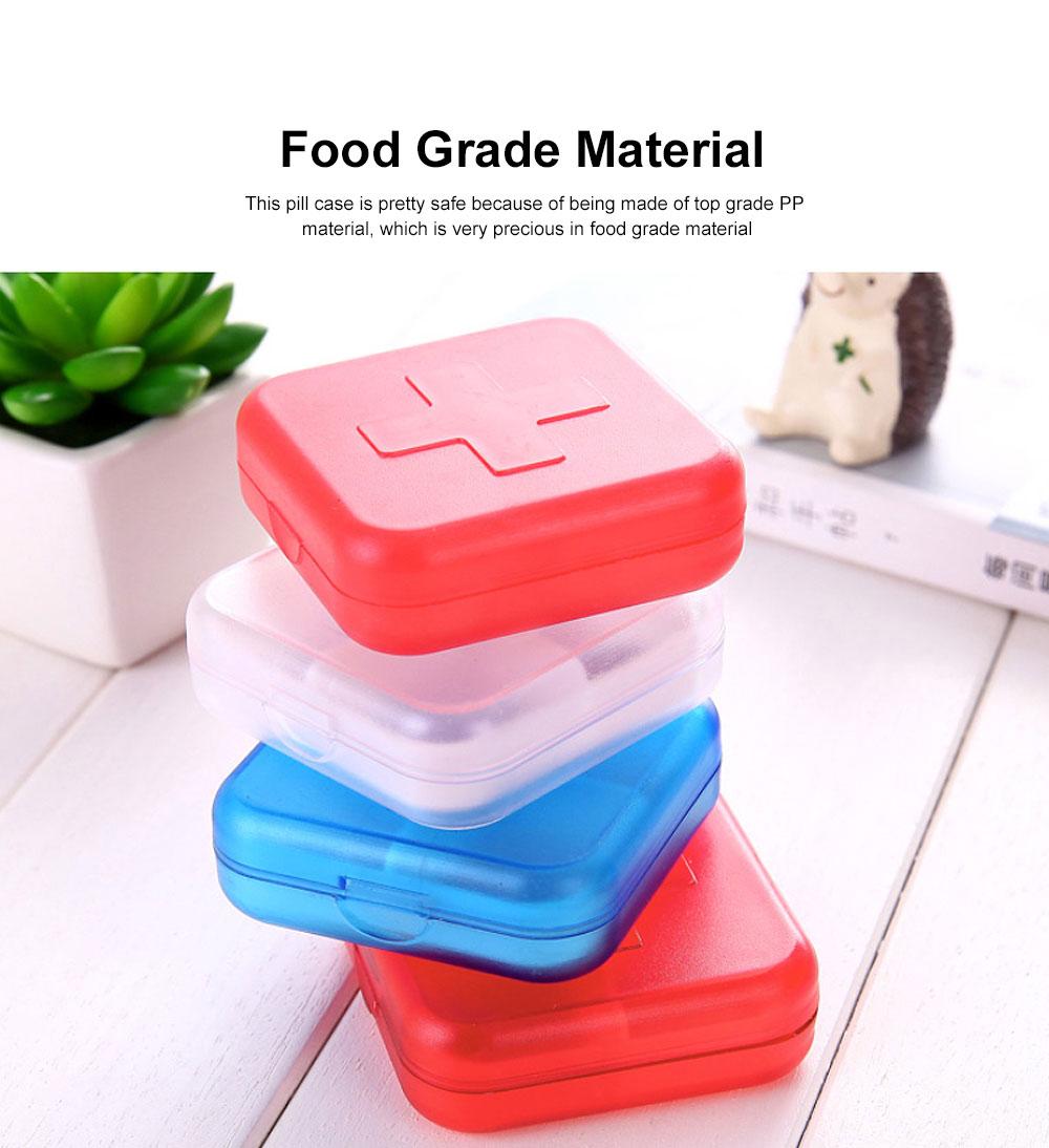 Portable Small Pill Organizer Case, Moisture-proof Pill Box for Vitamins, Fish Oil, Supplements Medication Medicine Case 1