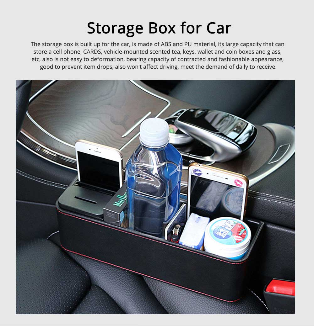 Storage Box ABS PU Material Large Capacity Pack Box for Keys Glass Phone High Bearing Practical Container for Car 0