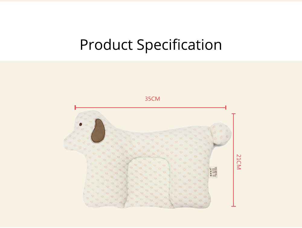 Newborn Baby Pillow, Breathable Organic Cotton Protection Pillow Prevent Flat Head Syndrome Baby Pillow 7