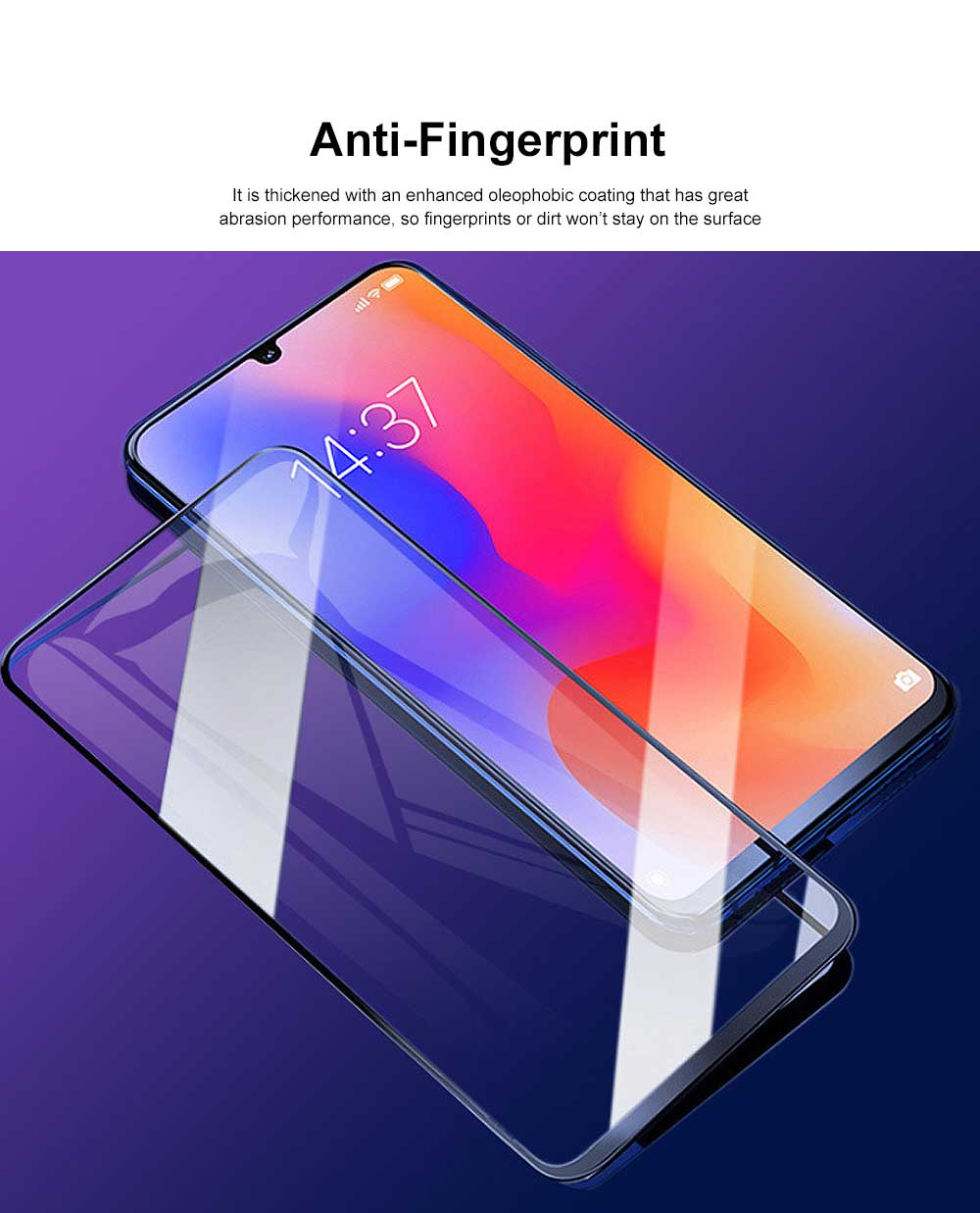 Tempered Glass Screen Protector Full Screen Coverage, Anti-Fingerprint Bubble Free Protector for iPhone X or XS, iPhone XR, iPhone XS Max, iPhone7 or 8, iPhone 7 or 8 plus, iPhone 6 or 6S, iPhone 6S plus 4