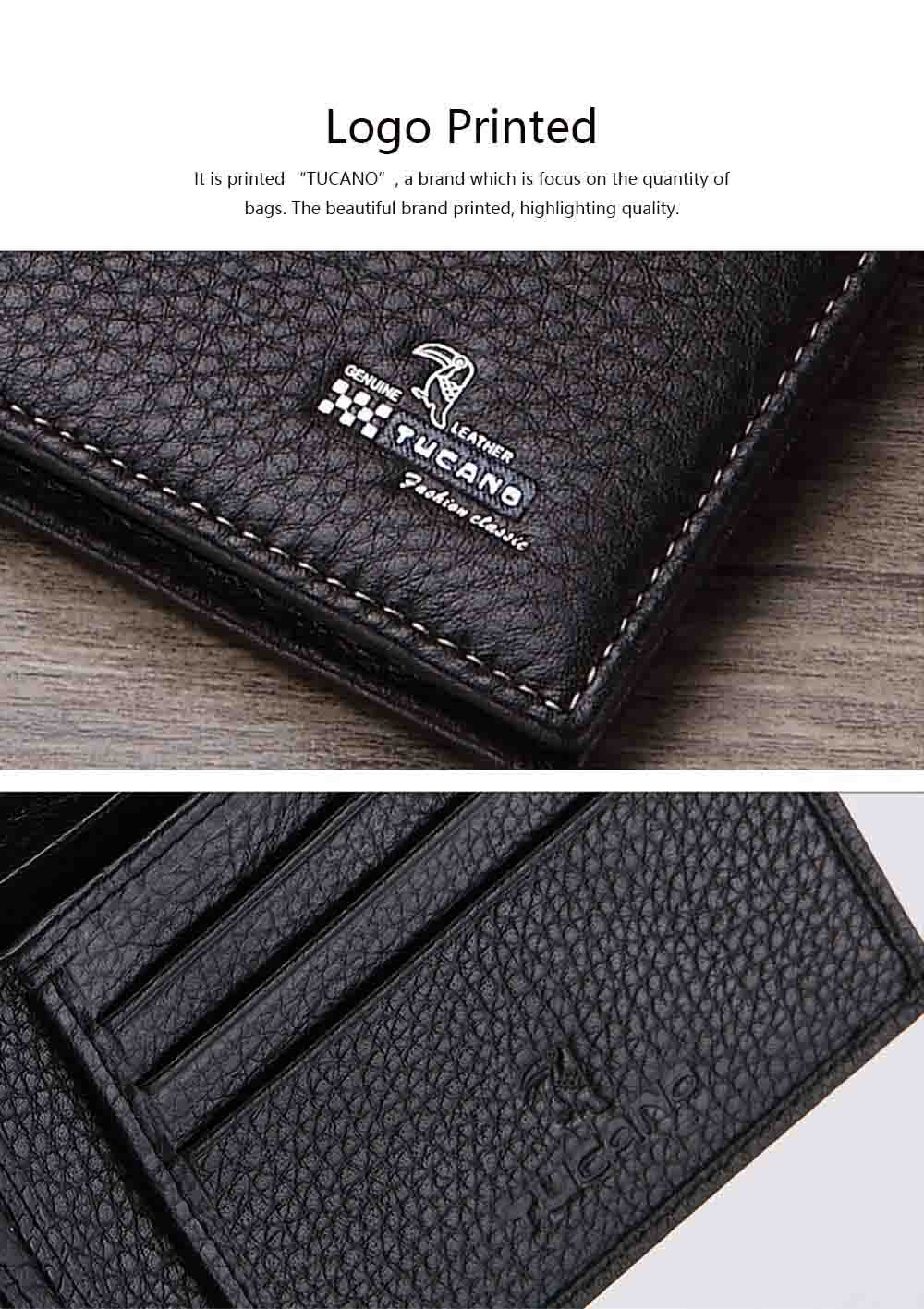 Bifold Side Flip Wallet, High-End Business Men Wallet, Men's Multifunctional Handbag, Extra Capacity Travel Wallet 3