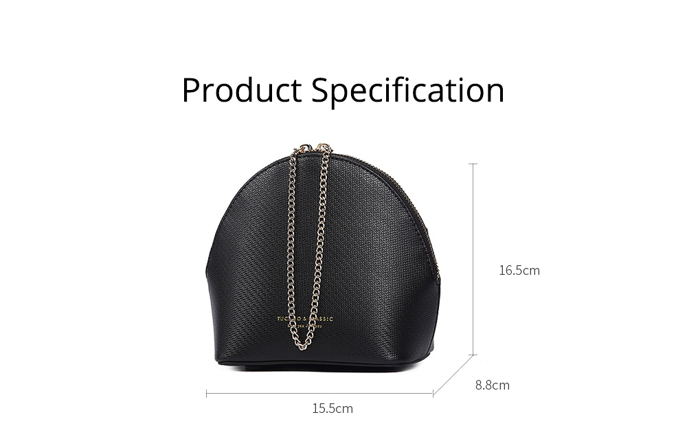 Shell Shape Shoulder Bag, Trendy Simple Style Women Crossbody Bag with Shoulder Chain 2019 New 10