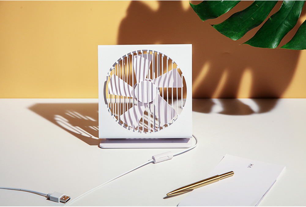 USB Rechargeable Desk Mini Fan with 90 Degrees Rotation, Strong Motion Compact Fan for Dorm Office Home 7 inches  4