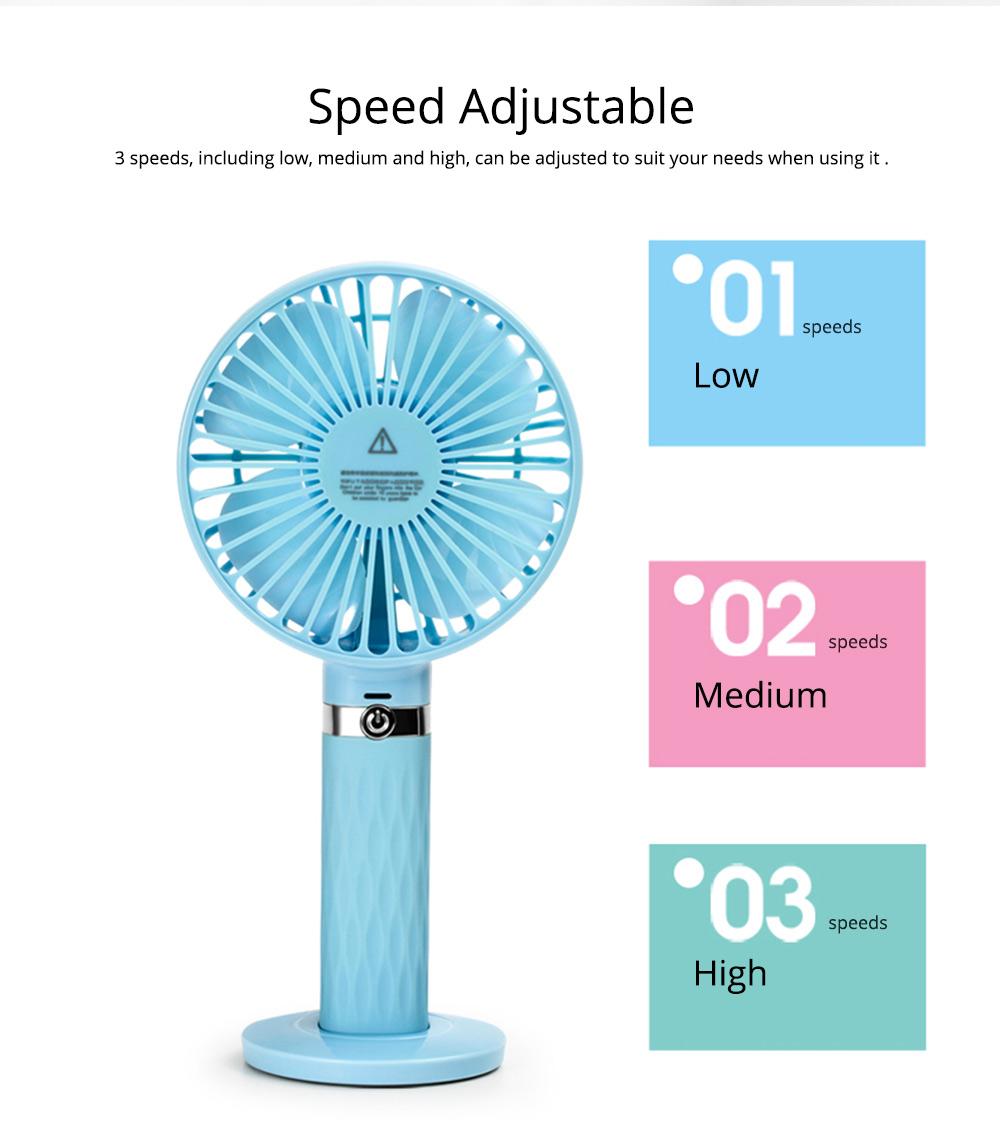 Rechargeable Portable Fan, Personal Handheld Fan for Office, Home, Travel, Small USB Desk Fan  4