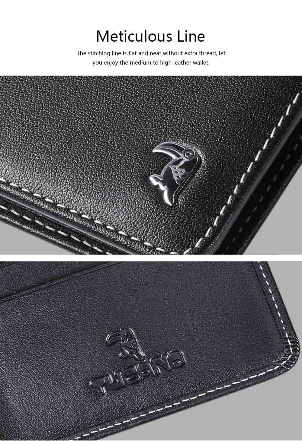 High-end Business Men Wallet, Multifunctional Wallet for Youth, Men's Leather Business Clutch Wrist Bags, Handbag Organizer Card Cash Holder 5