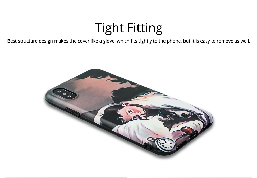 Soft Phone Case with 3D Beautiful Pattern, Slim Shock-absorbing TPU Back Cover for iPhone 6/6s, iPhone 6 plus 6s plus, iPhone 7/8, iPhone X/XS, iPhone XS Max, iPhone XR 4