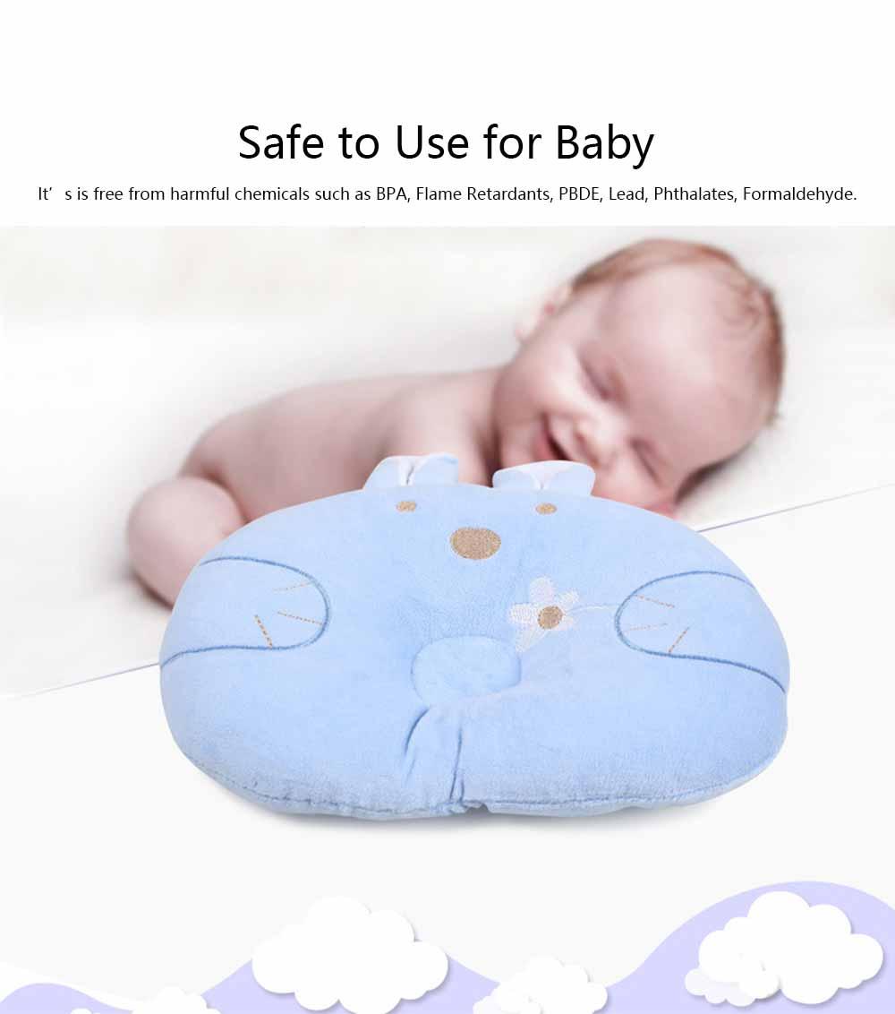 Soft Baby Pillow Anti-headrest, Comfortable Pillow for 0-12 Months Baby, Breathable Baby Pillow, Baby Cotton Pillow, Candy Rabbit Pillow 5