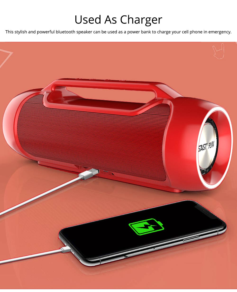 Bluetooth Speaker for Rapper, Dancer, Singer, Portable Brass with High Quality Sound Speaker, Double Horn Large Battery Speaker 5
