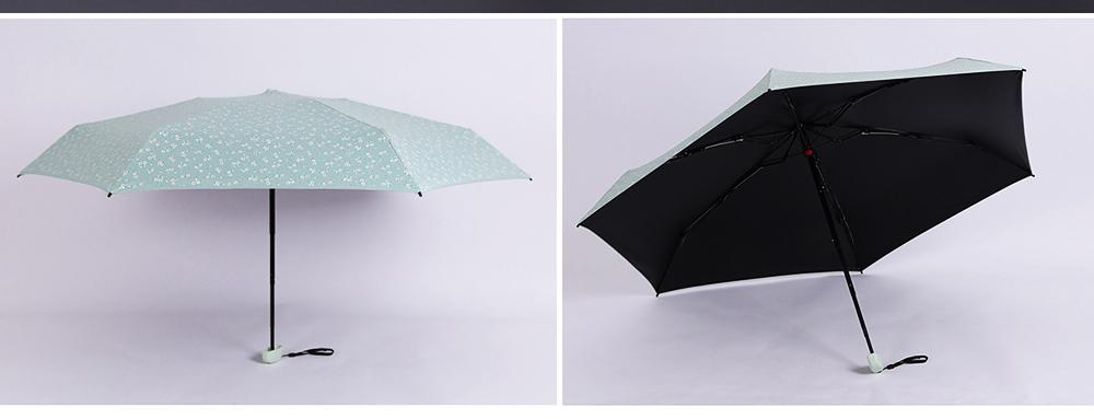 Mini Umbrella with Waterproof Case, Compact Umbrella Folding Pocket Umbrella Perfect for Outdoors 3