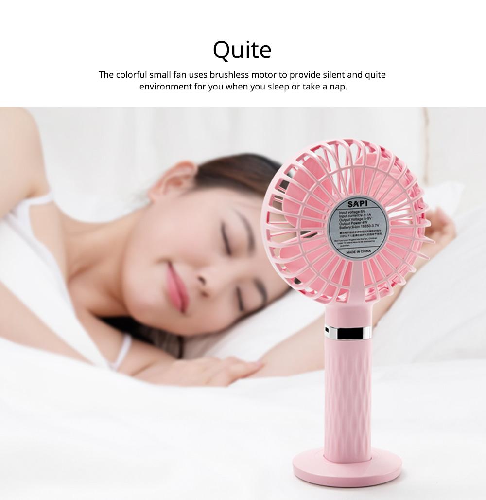 Rechargeable Portable Fan, Personal Handheld Fan for Office, Home, Travel, Small USB Desk Fan  3